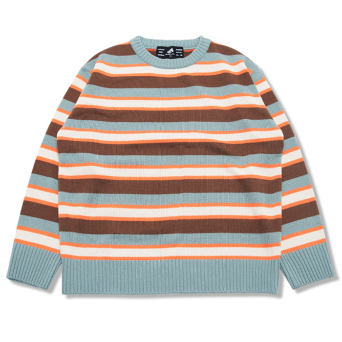 뉴해빗 - CREAMER STRIPE SWEATER_MINT (GNTDA-149)