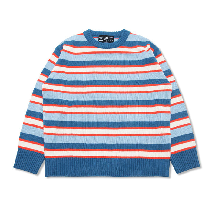 뉴해빗 - CREAMER STRIPE SWEATER_SORA (GNTDA-149)